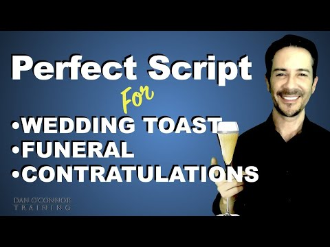 You Have to Do a Toast? Use this Script to Sound Perfect Every Time You Have to Speak in Public