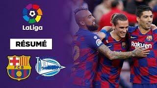 Résumé : Le FC Bacelone atomise Alavés, Messi, Griezmann et Suarez régalent