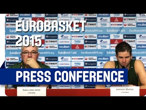 Italy v Lithuania - Post Game Press Conference - Re-Live - Eurobasket 2015