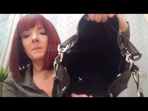 REVIEW of 2016 MICHAEL KORS large dottie drawstring bucket crossbody leather bag