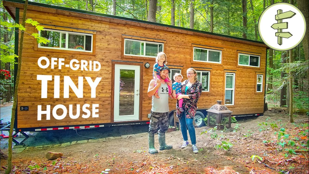 Family Living in Off-Grid Tiny House to Save Money & Work Less