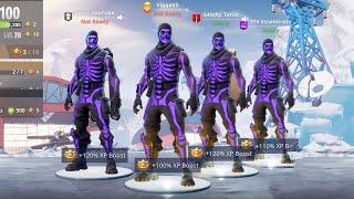 the most OG *TRYHARD* Fortnite squad EVER.. 😱 (ALL PURPLE SKULL TROOPER)