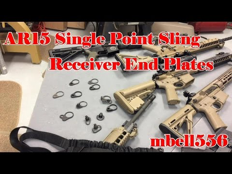QD Receiver End Plate:AR15 Single Point Sling Attachment Receiver End Plates