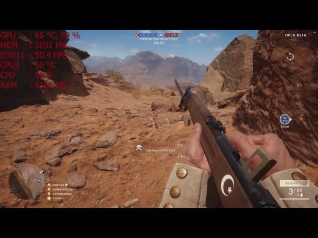 Battlefield 1 Open Beta On Gtx 960 4gb + Fx 4300 Be (ultra Settings 1920 X 1080)