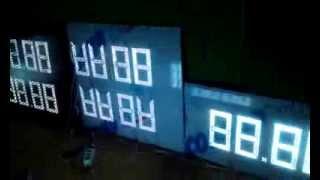 Светодиодное табло для АЗС(Изготовление комплекта светодиодных табло для АЗС на 5 видов топлива для 2-х сторонней стеллы. Управление..., 2013-08-22T07:14:21.000Z)