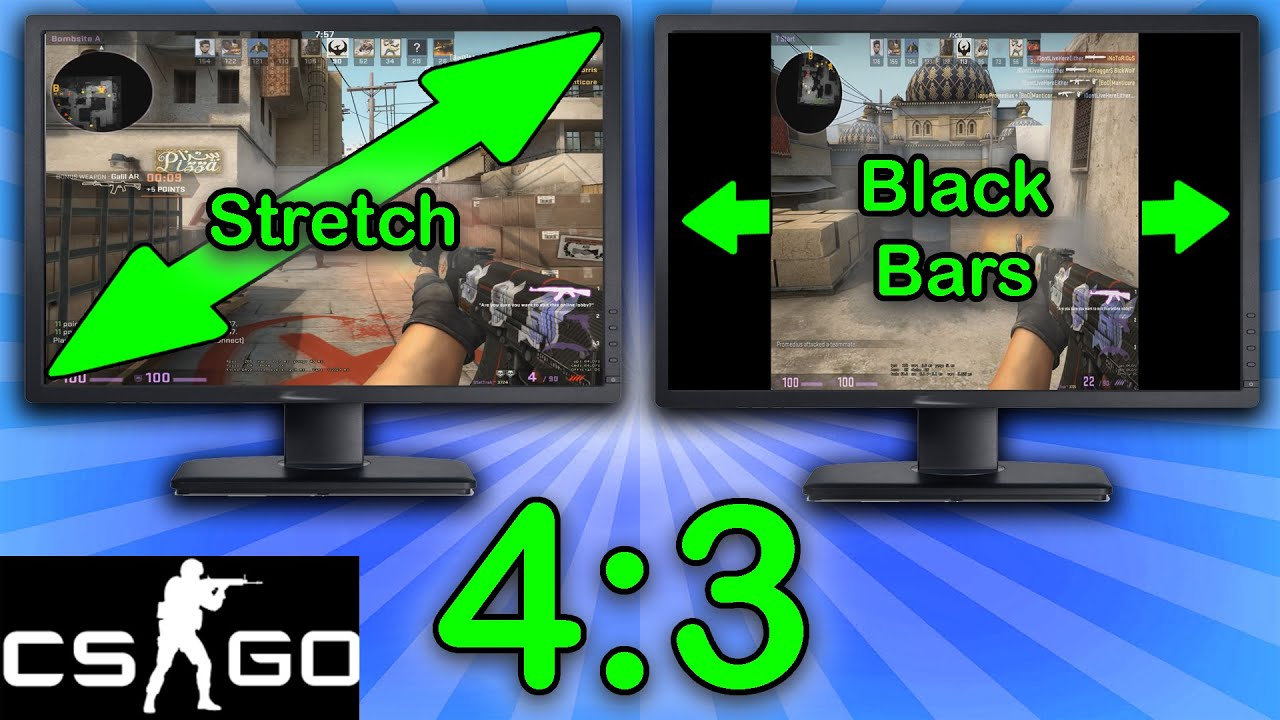 csgo 4 3 resolution tutorial stretched black bars. Black Bedroom Furniture Sets. Home Design Ideas