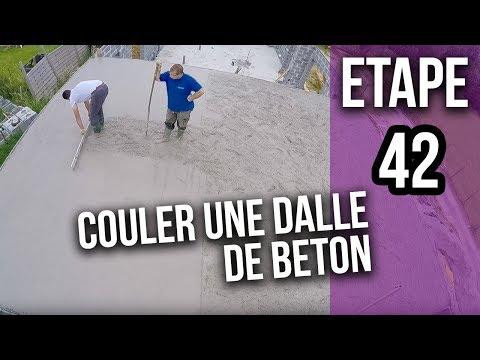 Comment couler la dalle béton d'une terrasse garage - Etape 42