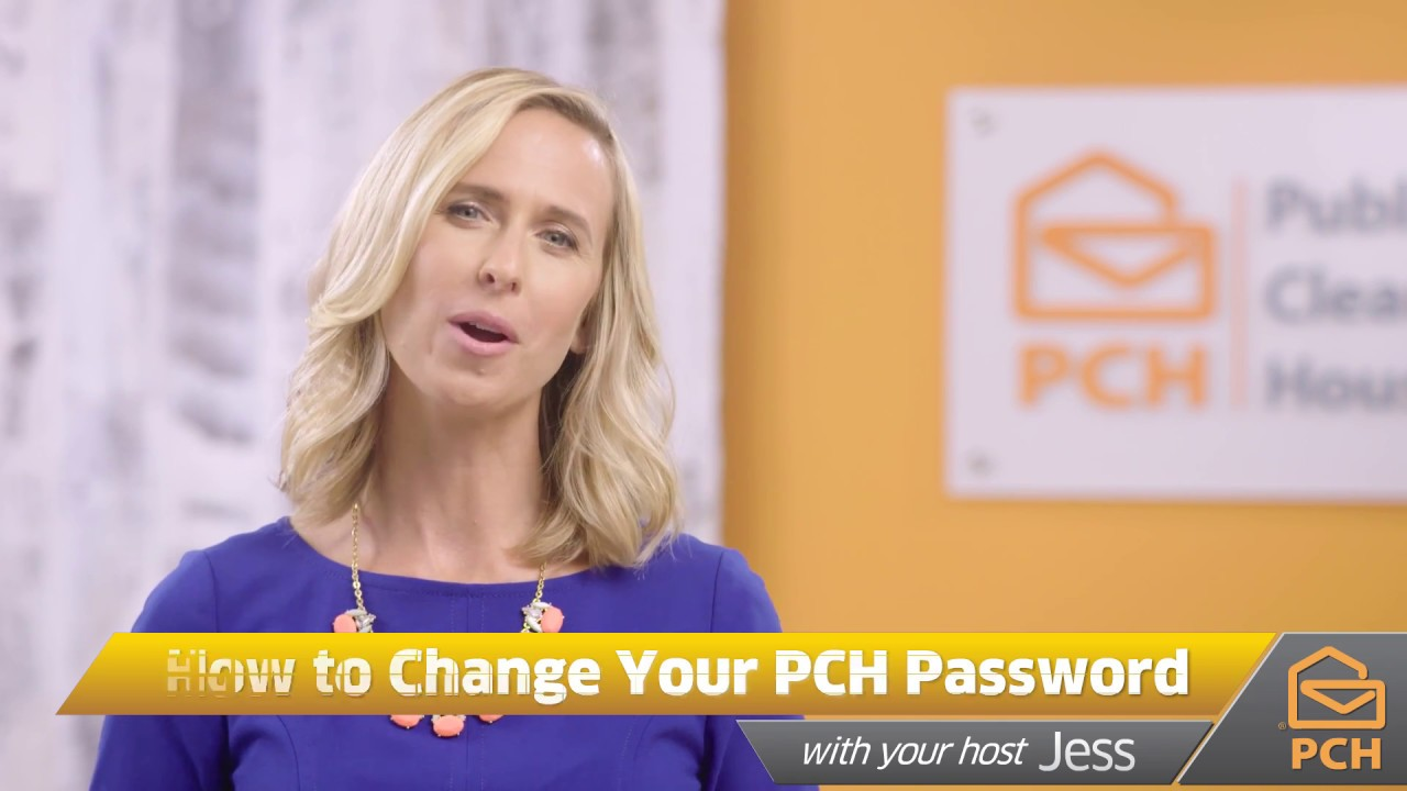 Change Your PCH Account's Password