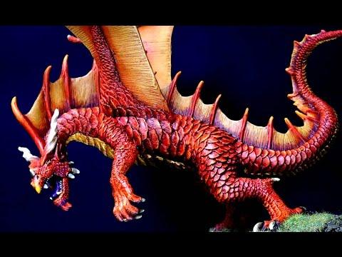 Painting Reaper Bones Cinder Red Dragon
