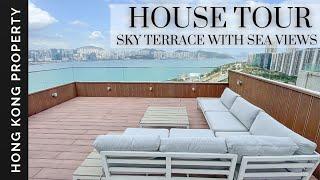 4K HOUSE TOUR   TOP FLOOR WITH SKY TERRACE   Hong Kong Property