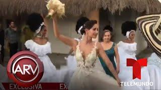 Carmen Villalobos habla minutos antes de llegar al altar | Al Rojo Vivo | Telemundo