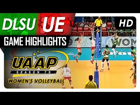 UAAP 79 Women's Volleyball: DLSU vs UE Game Highlights - March 25, 2017