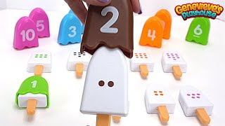 Teach Kids how to Count Numbers with Fun Popsicle Toys and Colorful Puzzle!