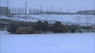 2013 12 16 heavy equipment rollover at bhc landfill black hawk county iowa myke goings kmdg