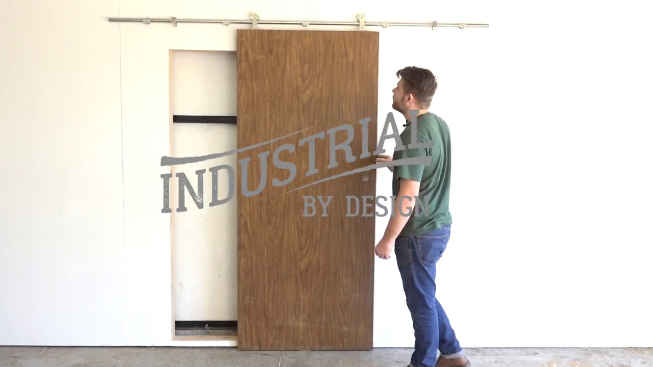 Step by step stainless barn door hardware installation industrial by design