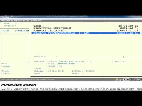 Purchase Order (MARG)