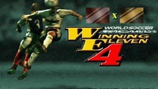 Winning Eleven 4 (Playstation) - Exibição - Classic America All Stars x Classic Europe All Stars