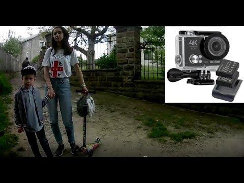 Видеокамера Acme VR06 Ultra HD Wi Fi!Тест видео!Как записывает!
