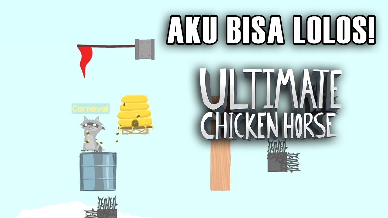 AKU BISA LOLOS SENANGNYAAAA - Ultimate Chicken Horse Indonesia