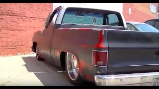 """DROPPED CHEVY C10 SWB   73-87 Bagged on 24"""" Chrome Smoothies"""