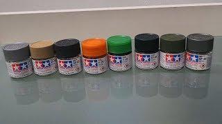 мои краски и лаки Tamiya и результат их применения