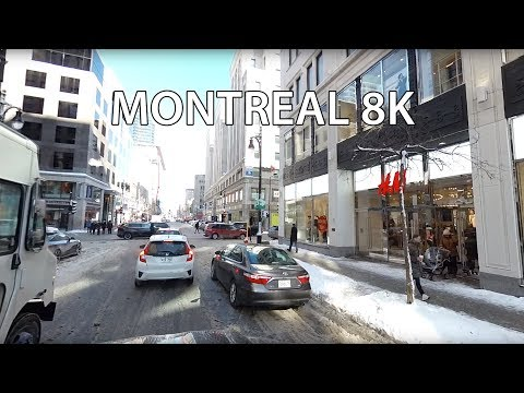 Driving Downtown 8K VR - Montreal Canada