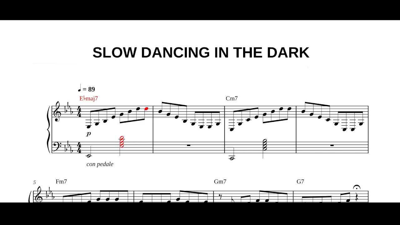 Joji Slow Dancing In The Dark Piano Sheet Youtube