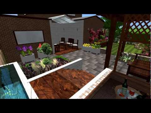 Split garden design woodlesford leeds pmn landscape for Landscape design leeds
