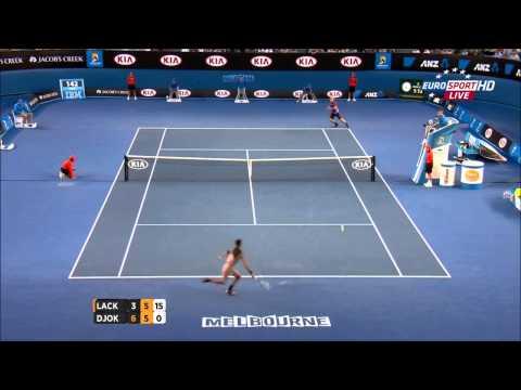 Novak Djokovic Vs Lukas Lacko Australian Open 2014 HIGHLIGHTS R1 (HD)