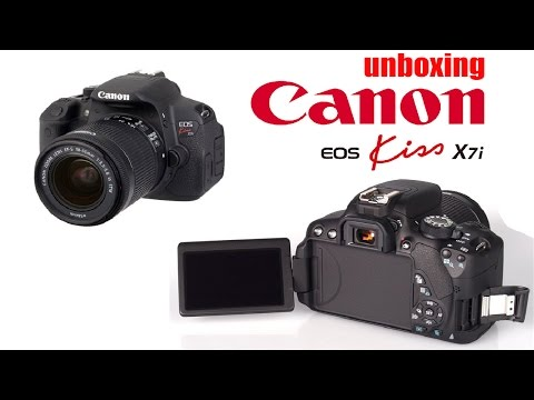 Unboxing Canon Kiss x7i