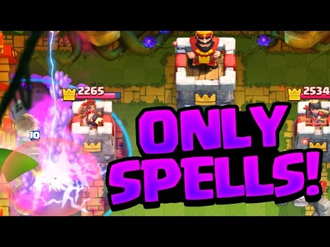 ONLY SPELLS? Clash Royale Challenge 'Strategy'?