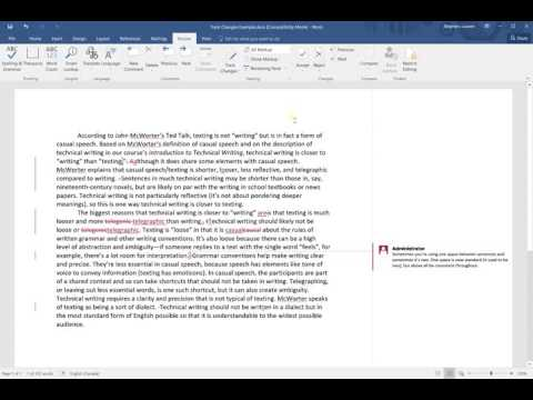 How to Accept (or Reject) Track Changes in Word 2016