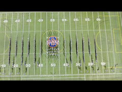 Olentangy Orange Marching Band Viva la Vida - the Drone View