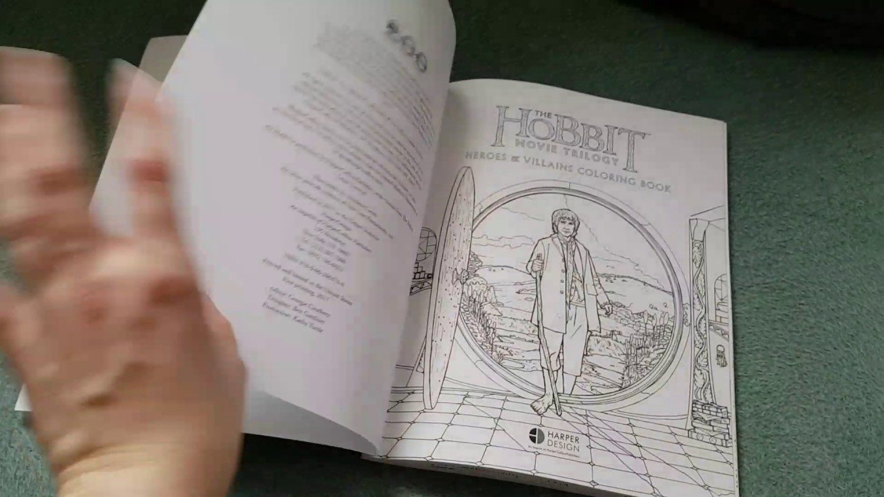 The Hobbit Movie Trilogy: Heroes and Villains Coloring Book - YouTube