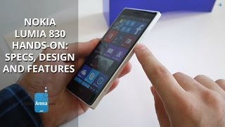 Nokia Lumia 830 hands-on: specs, design and features