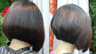 Bob haircut tutorial style Korea 4 💇 ตัดผมบ๊อบทุยทุยสไตล์เกาหลี