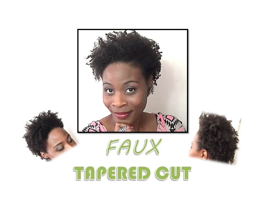 Natural Hair Faux Tapered Cut