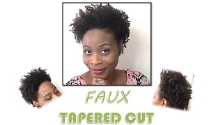 146 natural hair   a faux tapered cut style twistout fine thin low density natural hair