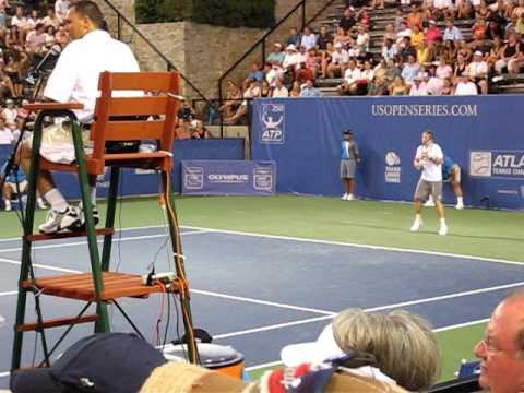 Atlanta Tennis Championships, Quarterfinal (Fish v. Devvarman) match point