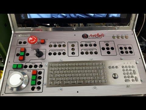 CNC Control Panel. Mach4