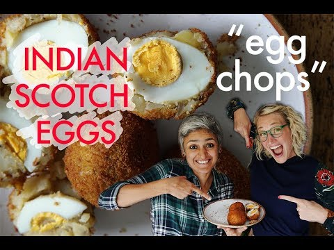 EGG CHOPS! or Spicy Indian Scotch Eggs with 'Food with Chetna'