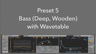 Preset 05 Bass Deep Wooden With Wavetable