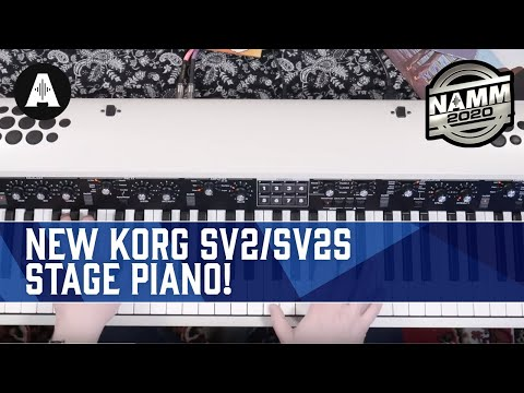 NEW Korg SV2/SV2S Stage Piano - Full In-Depth Demo! - NAMM 2020