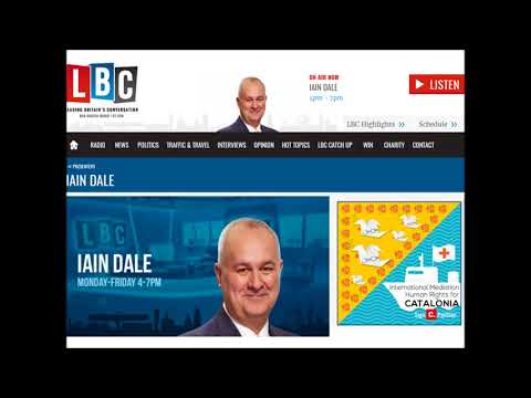 """LBC Radio Speaker Iain Dale about Spain: """"Anything other than a democracy"""""""