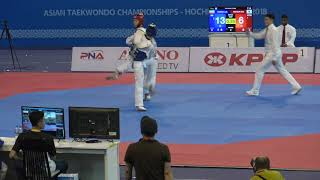 Asian Senior Taekwondo Championship 2018 Final Match -68 KG Iran VS Korea Round 2
