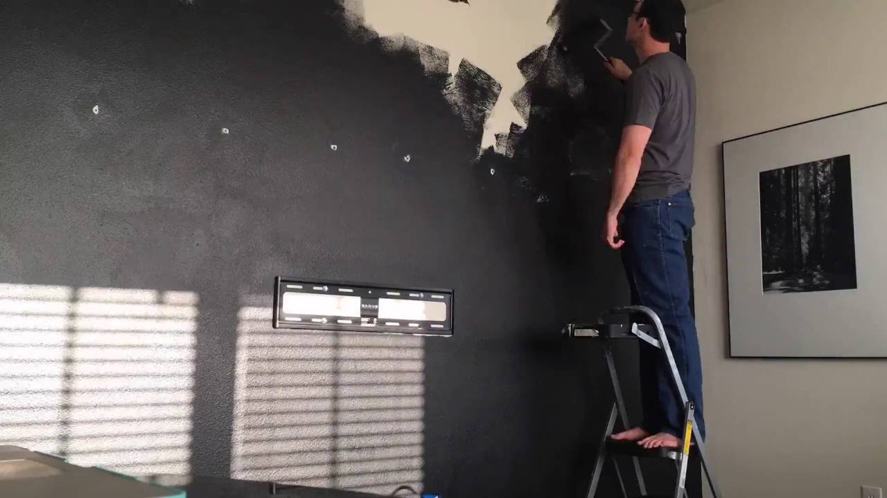 Black Accent Wall back in black: our cheerful black accent wall - youtube