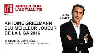 Antoine Griezmann élu meilleur joueur de la Liga 2016