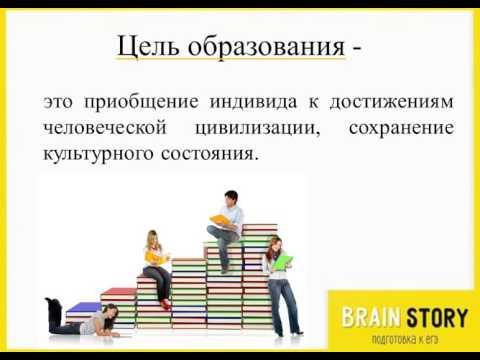 3.3.2 Образование как институт общества. Определение. ОГЭ по Обществознанию