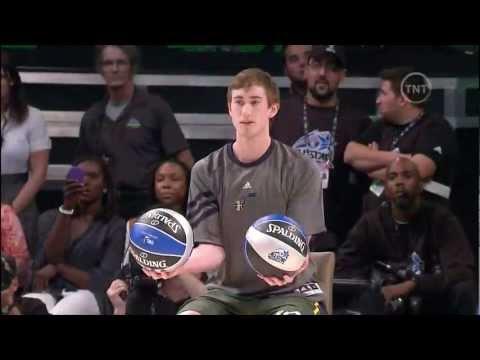 Jeremy Evans Dunks 2 Balls over Gordon Hayward (2012 NBA Dunk Contest)