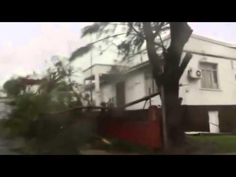 Footage shows Port Vila cyclone damage